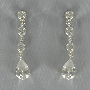 Cubic Zirconia Pear Drop Earrings