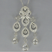 Cubic Zirconia Dangle Pendant