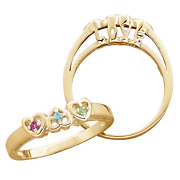 Ring Family Birthstone I Love You