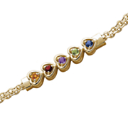 Bracelet Family Birthstone Heart
