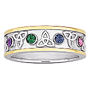 Ring Family Birthstone Trinity Knot