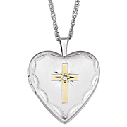 Pendant Personalized Locket with Cross