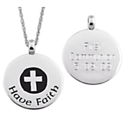 Cross Pendant Personalized Have Faith
