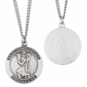 Pendant Personalized St Christopher Medal