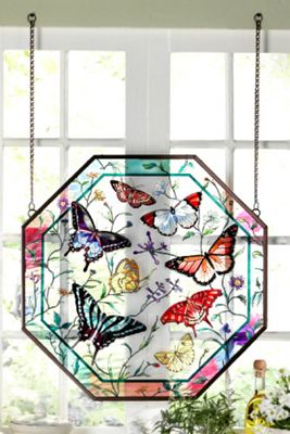 Meadow Song Painted Glass Panel