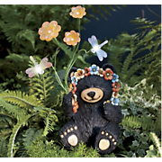Black Bear With Solar Flowers