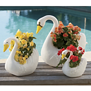 3-piece Swan Planter Set