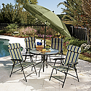6 piece Summer Stripe Patio Set