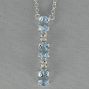Blue Topaz Drop Pendant