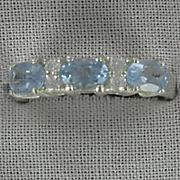 Blue Topaz Oval Band