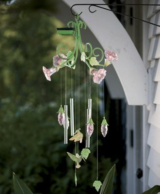 Solar Wind Chime With Hummingbirds