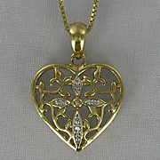 Heart and Cross Pendant