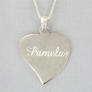 Personalized Heart Pendant