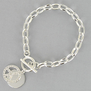 Personalized Peace Sign Bracelet
