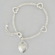 Personalized Heart Link Bracelet