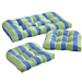 3 Piece Wicker Cushion Set