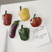 5 piece Get your veggies Assorted Magnet Set