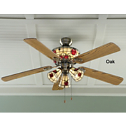 Stained Glass Apple Ceiling Fan