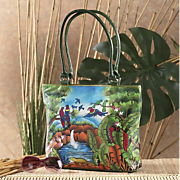 rainforest painted bag