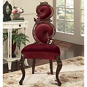 royal velvet high back chair