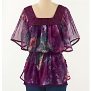 Paris Garden Chiffon Top