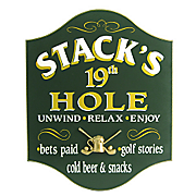 19Th Hole Unwind Personalized Sign