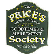 Goodtimes and Merriment Society Sign