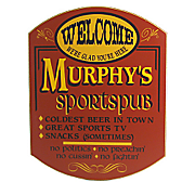 Sports pub Welcome Sign