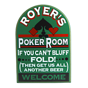 If You Cant Bluff Poker Room Sign