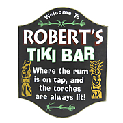 Tiki Bar Welcome Sign
