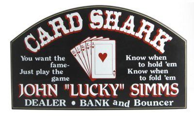 Card Shark Sign