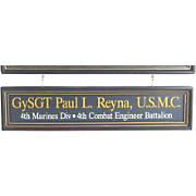 Marines Nameboard