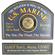 Marines Sign and Nameboard