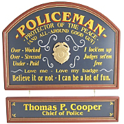 Policeman Sign and Nameboard