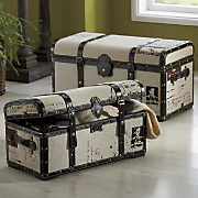 Set Of 2 Steamer Trunks