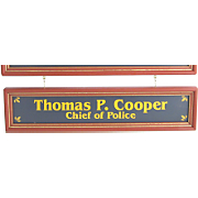 Policeman Nameboard