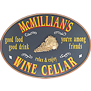Wine Cellar Oval Sign