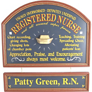 Registered Nurse Sign and Nameboard