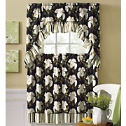 3 piece magnolia curtain set