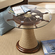 ship s wheel table