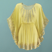 Plus-Size Chiffon Top: Color Yellow