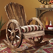 Wagon Wheel Rocker and Sante Fe Spice Cushion
