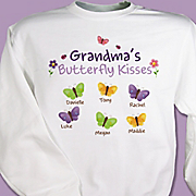 Sweatshirt Butterfly Kisses