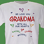 Personalized Tee All Our Hearts