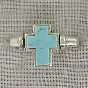 Cross Ring Sterling Silver Turquoise