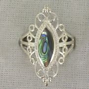 Ring Sterling Silver Filigree