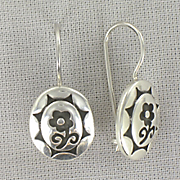 Earrings Sterling Silver Flower