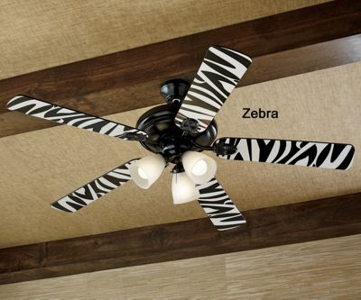Zebra Cheetah Reversible Ceiling Fan