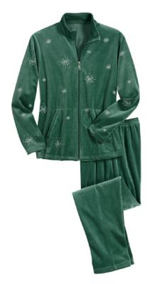 Snowflake 2 Piece Velour Set