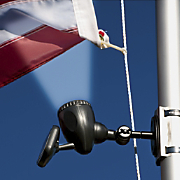 Solar powered Flag Pole Light